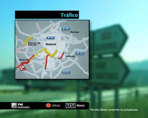 El tráfico en Madrid en tiempo real