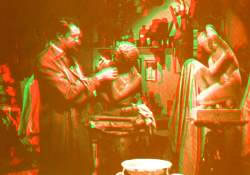 Fotograma de antigua película en 3D