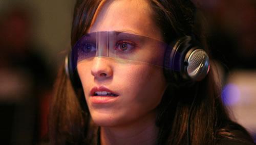 Concepto de gafas OLED para realidad aumentada