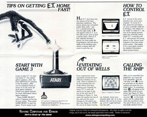 Antiguos trucos para jugar a E.T.