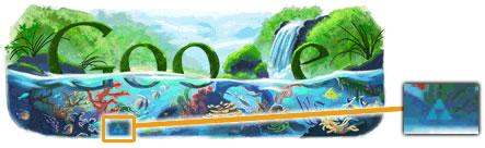 Doodle dedicado al Día de la Tierra + Trifuerza
