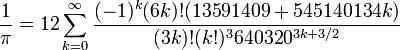 Algoritmo matemático Chudnovsky
