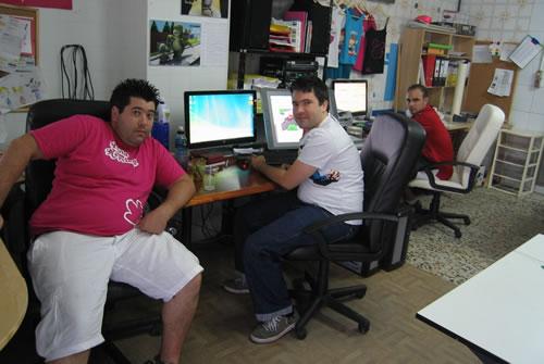 Los tres artífices de la serie (Manuel, José Antonio y Jesús)