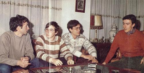 Paco Menéndez, Carlos Granados, Camilo Cela y Fernando Rada