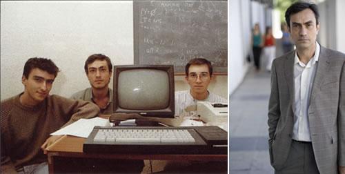 El ayer (muchacho del centro) y el hoy de Camilo Cela, otro de los genios artífices del 'Sir Fred' y actual presidente de USCA