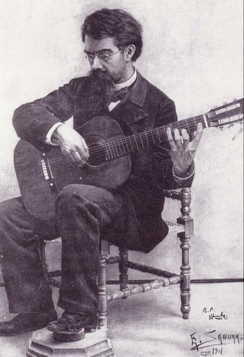 Retrato de Francisco Tárrega (obra de Enrique Segura Armengot)