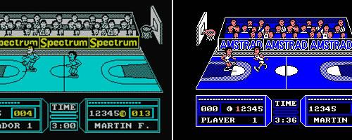 'Fernando Martín Basket Master' en Spectrum y Amstrad