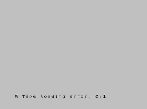 Error de carga en un Spectrum
