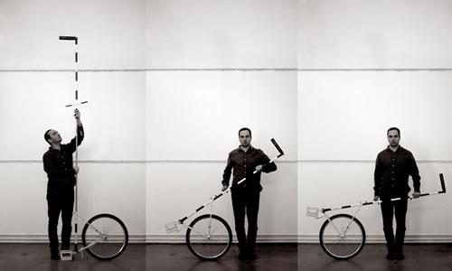 Matteo Ferroni con su invento