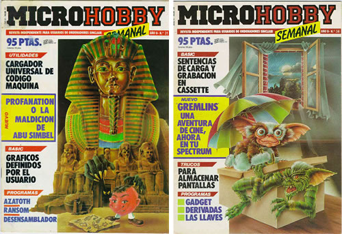 Otras portadas de Ponce para MicroHobby