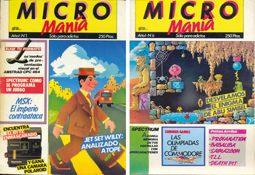 Algunas portadas de Ponce para Micromanía