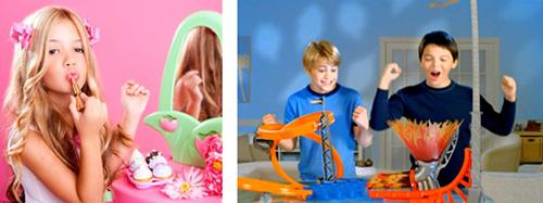 Juguetes para niñas versus juguetes para niños