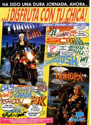 'Turbo Girl' y 'Hundra' en MicroHobby (clic para ampliar)