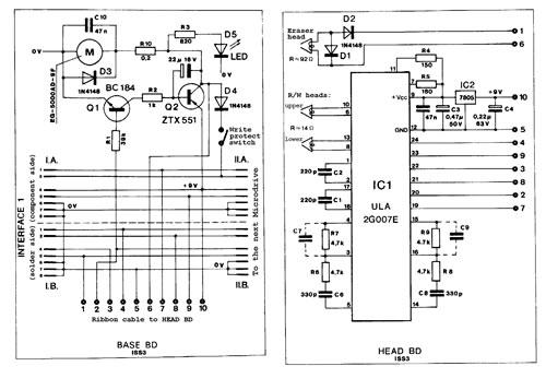 Esquema del circuito de Microdrive (clic para ampliar)