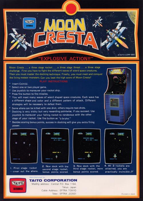 Cartel publicitario de 'Moon Cresta' (clic para ampliar)