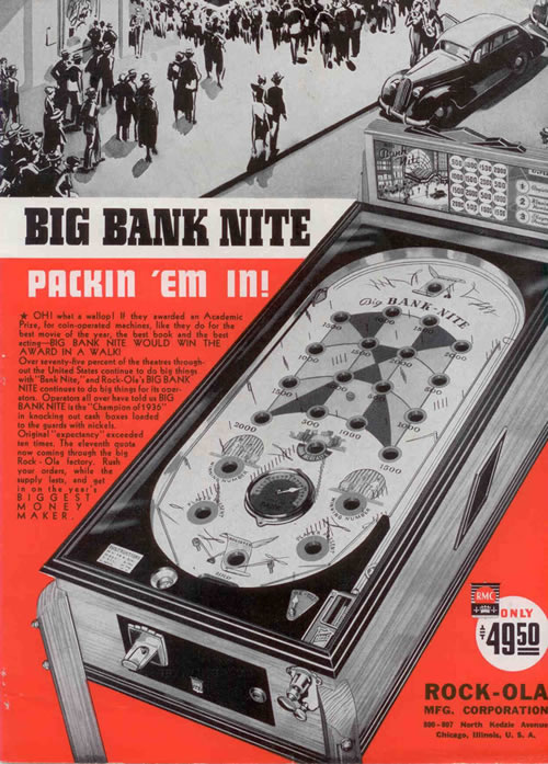 Pinball 'Big Bank-Nite', año 1636 (clic para ampliar)