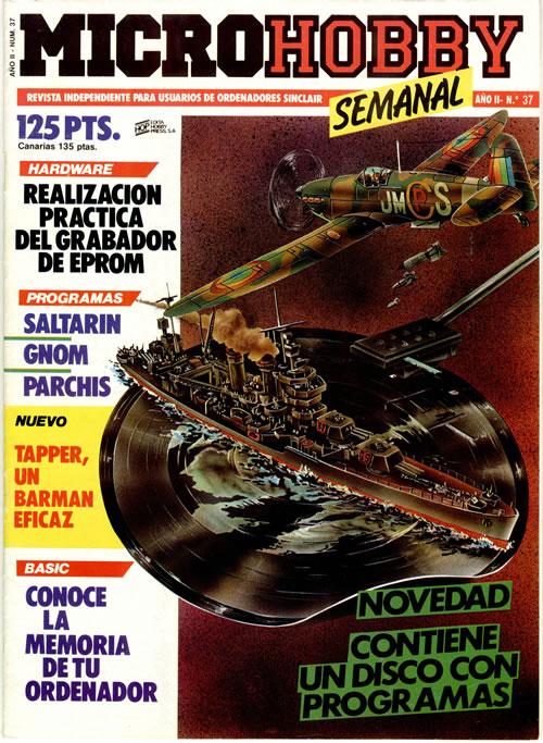 Revista 'MicroHobby' con su flexi disc