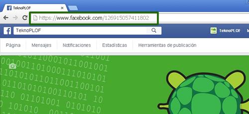 URL con el ID de Facebook
