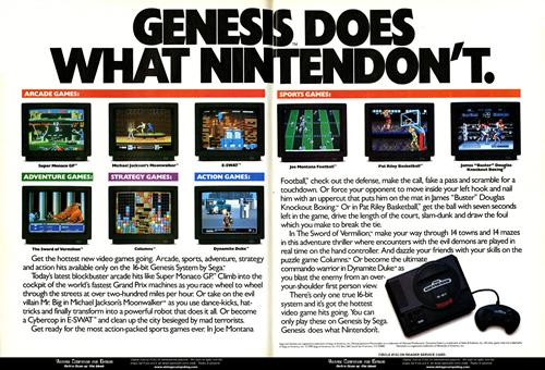 Publicidad de Sega (clic para ampliar)