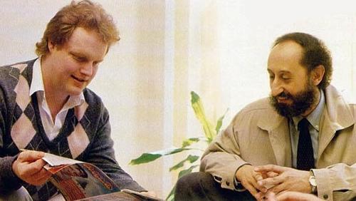 El Andrés de antes (derecha) junto con Tim Gilberts (Gilsoft)