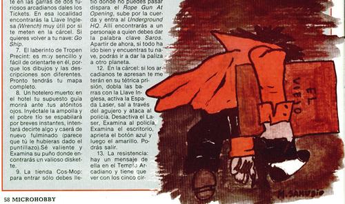 La primera ilustración de Mónica Samudio en MicroHobby