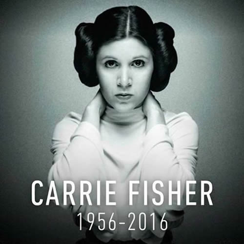 Carrie Fisher (Princesa Leia)