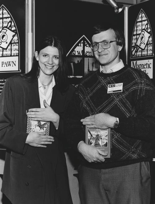 Anita Sinclair y Peta Austin en el CES de 1986