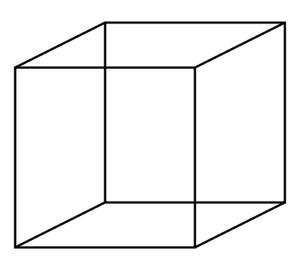 Cubo proyectado en un plano