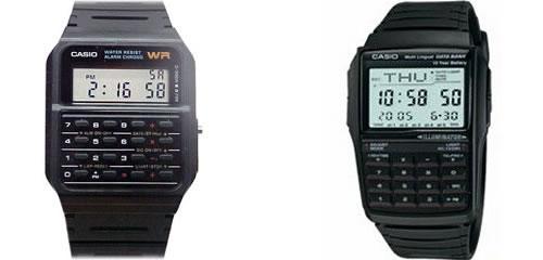 Reloj calculadora (izquierda) y reloj con agenda (derecha)