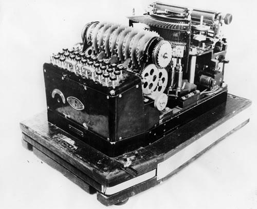 Antigua máquina Enigma original