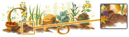 Doodle dedicado al Día de Acción de Gracias + Trifuerza
