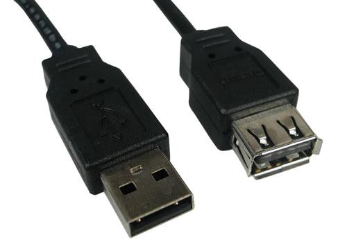 Conectores USB estándar Tipo A (macho y hembra)