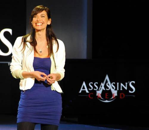 Jade Raymond en la presentación de 'Assassin's Creed' en el E3 de 2007