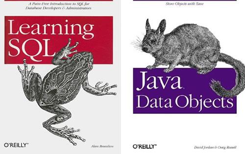 Dos libros de la editorial O'Reilly Media