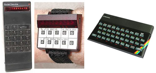 Calculadora electrónica, reloj calculadora y ZX Spectrum
