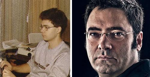 Víctor Ruiz en los años ochenta y hoy