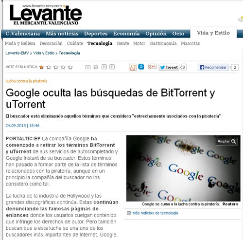Noticia en Levante