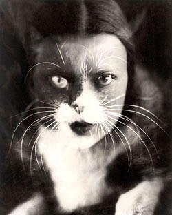 'Io + gatto' de Wanda Wulz (1932)