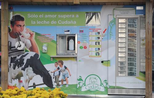 Máquina expendedora de leche fresca