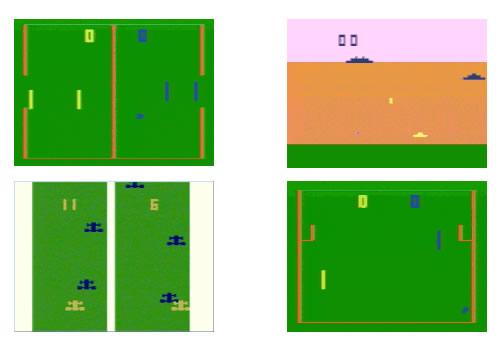 Capturas de pantalla de varios juegos