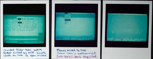 Uso del doble clic en el diseño del Apple Lisa (clic para ampliar)
