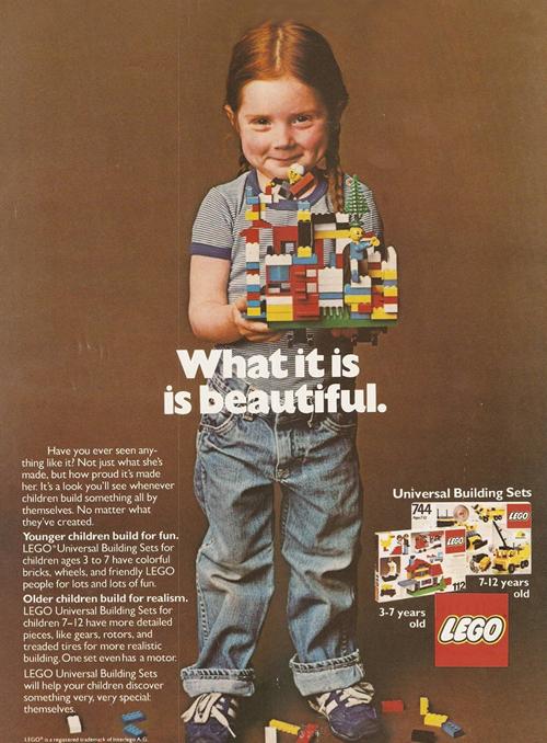Publicidad de LEGO en 1981