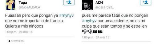 Tuits de fans de 'MYHYV'