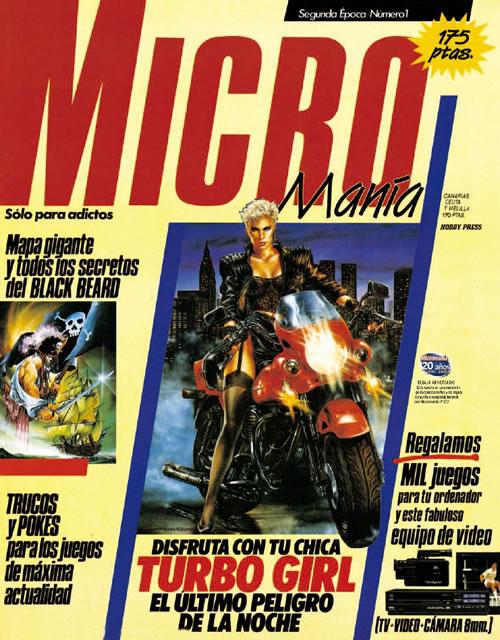 'Turbo Girl' en la primera MicroManía de la segunda época