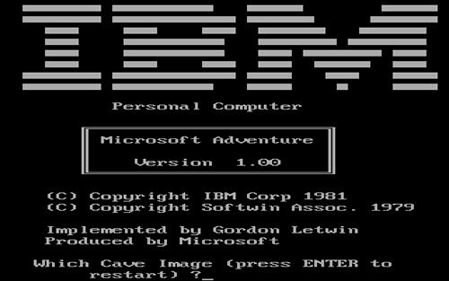 Versión para MS-DOS, desarrollada por Microsoft y distribuida por IBM 1981