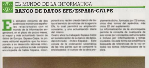 Artículo en 'Enciclopedia Práctica de la Informática' (1984)