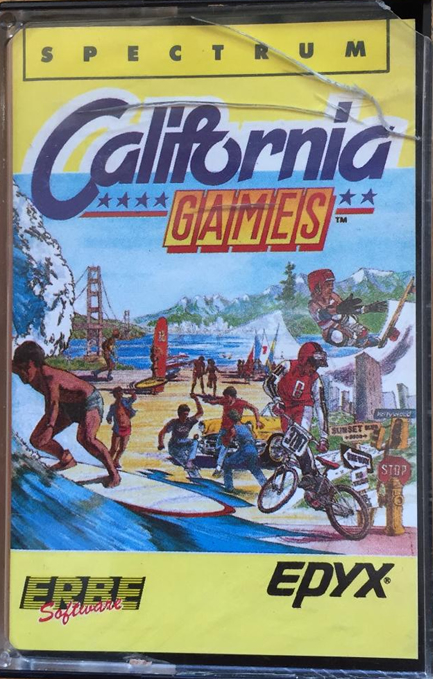 'California Games' para ZX Spectrum (de ERBE)